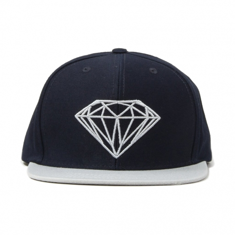Boné Diamond Brilliant Snapback - Azul/Cinza