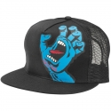 Boné Santa Cruz Trucker Screaming Hand - Preto