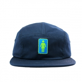 Boné Girl Skateboards 5 Panel OG Camper - Azul