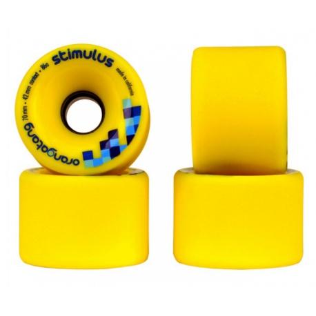 Roda Orangatang Stimulus 70mm 86a - Amarela